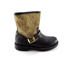 zecchino d'oro, leopardato, made in italy, pelle, camoscio, nero, profilo