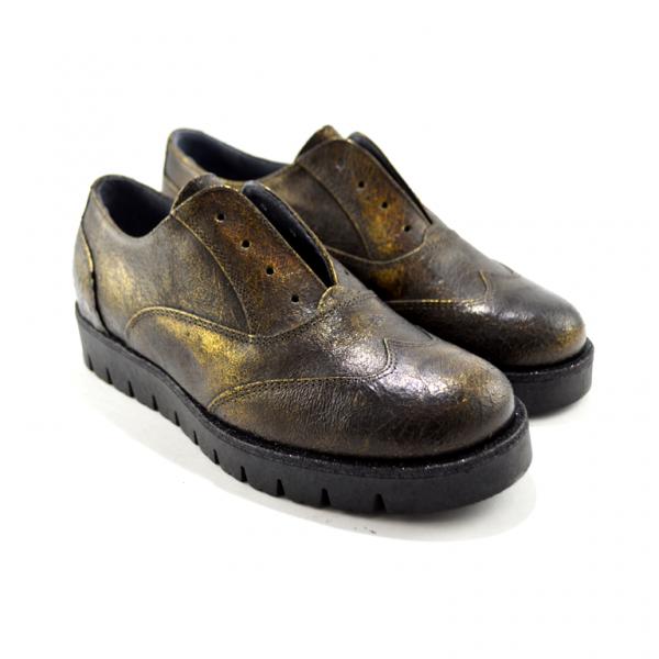 scarpe basse bronzo