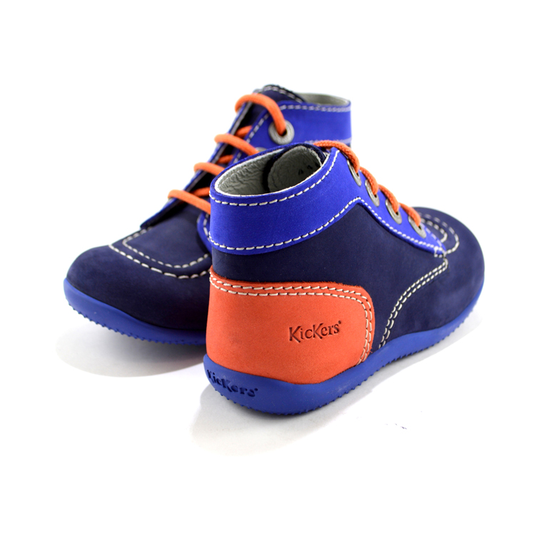 sports shoes 80b0f b97a2 Kickers - Scarpe blu e arancio per bambino