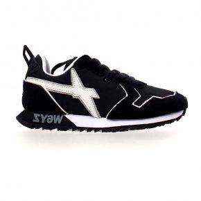 Wizz, blu scuro, lacci, sneakers, profilo