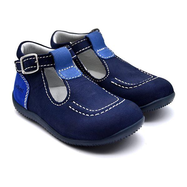 kickers, bonbek, azzurro e blu, fronte