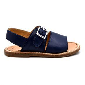 zecchino d'oro, sandalo blu cuoio, profilo