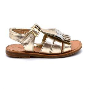 zecchino d'oro, sandalo, frangia oro, profilo