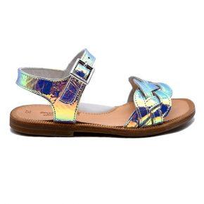 zecchino d'oro, sandalo, laminato multicolor, profilo