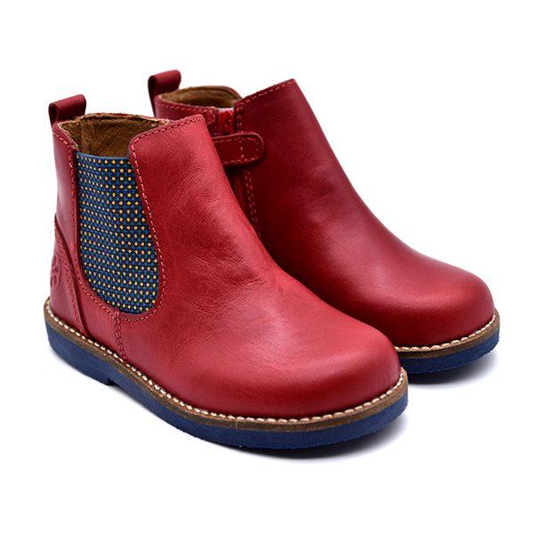 Aster, stivaletto, fascia elastica, blu rosso, fronte