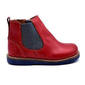 Aster, stivaletto, fascia elastica, blu rosso, profilo