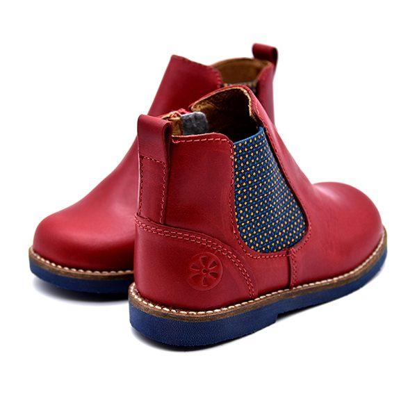 Aster, stivaletto, fascia elastica, blu rosso, retro