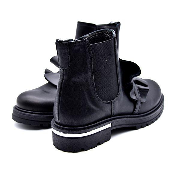 Morelli, stivaletto, fascia elastica, fiocco nero, retro