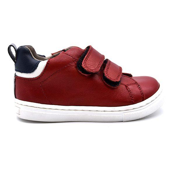 Romagnoli, sneakers, velcro, rosso, pelle, profilo