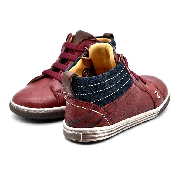Zecchino D'Oro, sneakers, lacci, rosso, camoscio blu, retro