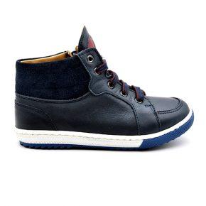 Zecchino D'Oro, sneakers, lacci, stella bianca, blu, rosso, profilo