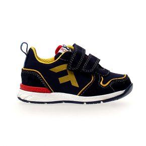 Naturino, Falcotto, hack, sneakers, velcro, blu, giallo, profilo