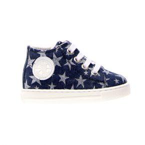 Naturino, Falcotto, magic, sneakers, lacci, jeans, blu, stelle, profilo