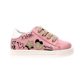 Naturino, Falcotto, mervi, sneakers, lacci, rosa, profilo