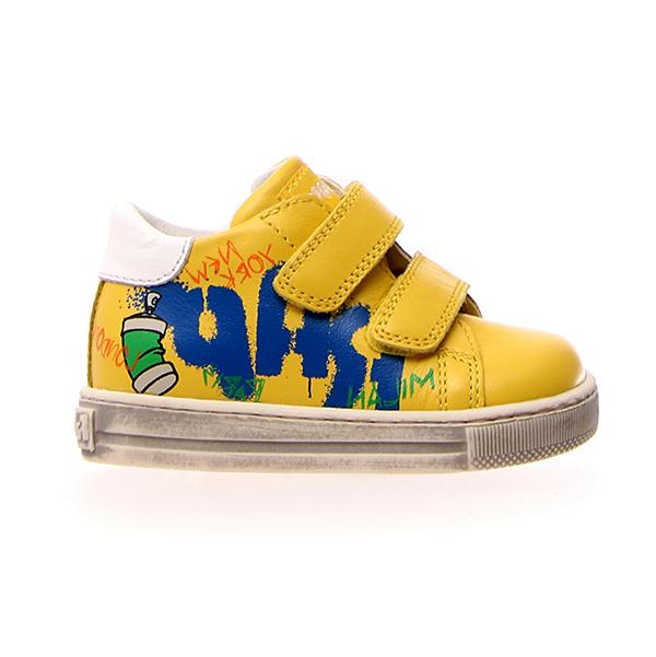 Naturino, Falcotto, narat, sneakers, velcro, giallo, profilo