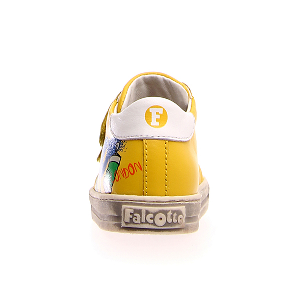 Naturino, Falcotto, narat, sneakers, velcro, giallo, retro