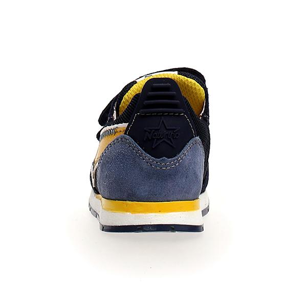 Naturino, crunch, sneakers, velcro, blu, giallo, retro