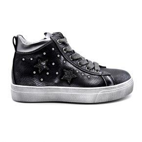Nero Giardini, sneakers, lacci, metallizzato, grigio, nero, profilo