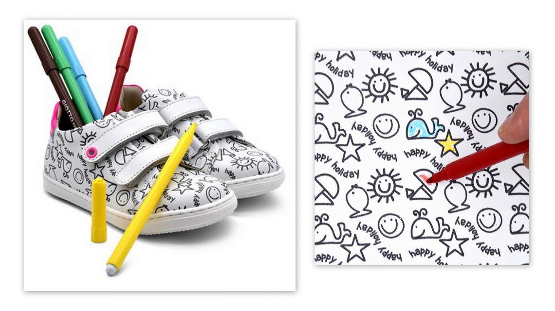 gioie ecologiche made in Italy scarpa colorabile primi passi artigianale