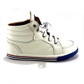 Zecchino d'oro, sneakers, pelle, bianco, azzurro, blu, bianco, profilo