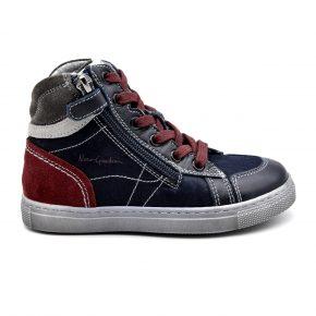 Nero Giardini, made in Italy, stivaletto, sneakers, velcro, blu, bordò, profilo