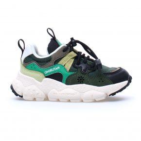 Flower Mountain, Naturino, Sneakers, yamano, lacci elasticizzati, vegan, verde, profilo