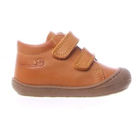 Naturino, Cocoon, Sneakers, velcro, pelle, arancio, profilo