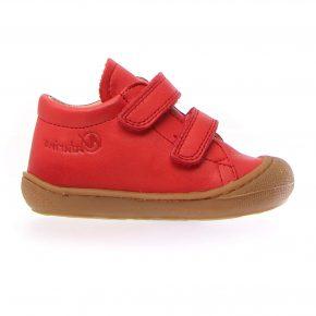 Naturino, Cocoon, Sneakers, velcro, pelle, rosso chiaro, profilo