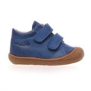 Naturino, Cocoon, Sneakers, velcro, pelle, azzurro, profilo