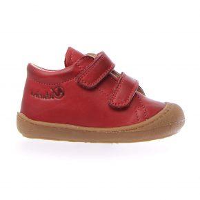 Naturino, Cocoon, Sneakers, velcro, pelle, rosso, profilo