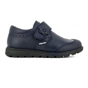 Pablosky, sneakers, 334720, velcro back to school, pelle, blu, profilo