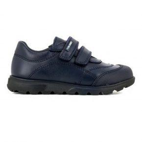 Pablosky, sneakers, velcro back to school, pelle, blu, profilo