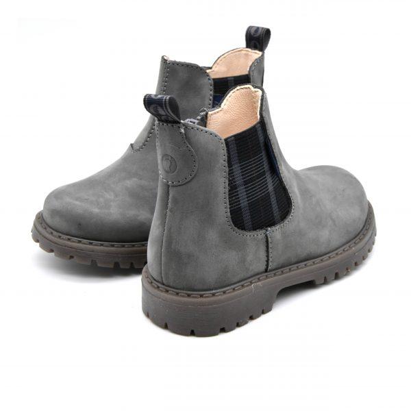 Walkey, stivaletto, made in Italy, fascia elastica, zip, camoscio, pelle, grigio, retro