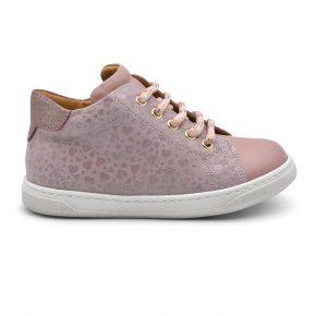 Zecchino D'oro, sneakers, lacci, made in Italy, rosa, oro, profilo