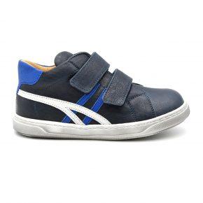 Zecchino D'oro, sneakers, velcro, pelle, made in Italy, blu scuro, azzurro, profilo