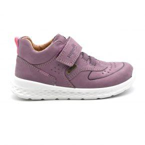Gore Tex, Superfit, sneakers, water proof, anti pioggia, pelle, rosa, viola, velcro, lacci elasticizzati, profilo