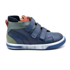 Zecchino D'oro, made in Italy, sneakers, pelle, velcro, blu, verde, rosso, profilo